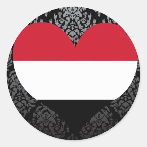 Compre la bandera de Yemen Pegatina Redonda