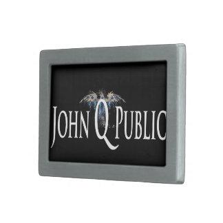 ¡Compre la nueva hebilla del cinturón de Juan Q. Hebillas De Cinturón Rectangulares