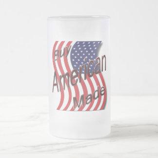 Compre la onda hecha americano taza cristal mate