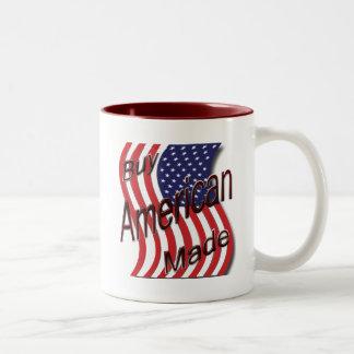 Compre la onda hecha americano taza dos tonos