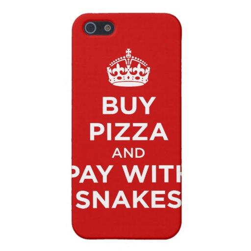 Compre la pizza y la paga con las serpientes - gua iPhone 5 fundas