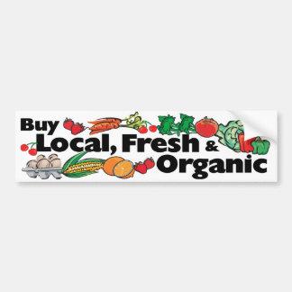 Compre local, fresco y orgánico pegatina de parachoque