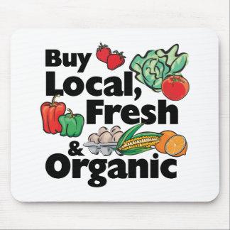 Compre local, fresco y orgánico alfombrilla de ratón