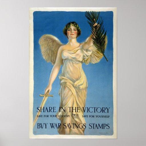 Compre los sellos de los ahorros de la guerra, 191 poster