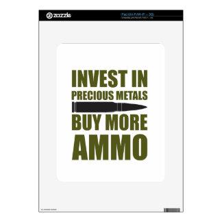 Compre más munición, inviértala en metal calcomanías para el iPad