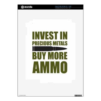 Compre más munición, inviértala en metal skin para el iPad 2