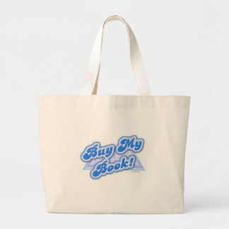 Compre mi estilo del azul del libro bolsa de tela grande