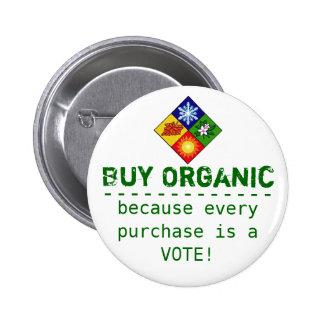 Compre orgánico pin redondo de 2 pulgadas