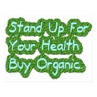 Compre orgánico tarjeta postal