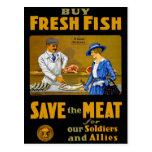 Compre pescados frescos tarjetas postales