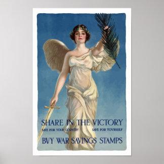 Compre sellos de los ahorros de la guerra -- WWI Póster