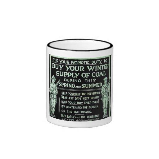 Compre su fuente del invierno del vintage del carb taza a dos colores