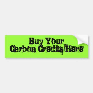 Compre sus créditos del carbono aquí pegatina para auto