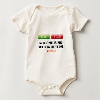Compre y venda, ningún botón amarillo confuso body para bebé