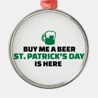 Cómpreme que el día de un St Patrick de la cerveza Ornamento De Reyes Magos