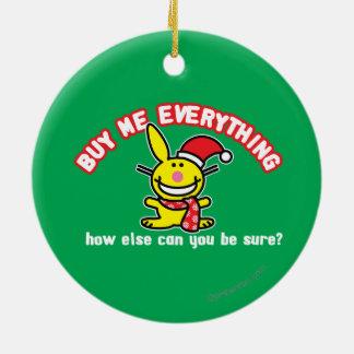 Cómpreme todo adorno navideño redondo de cerámica