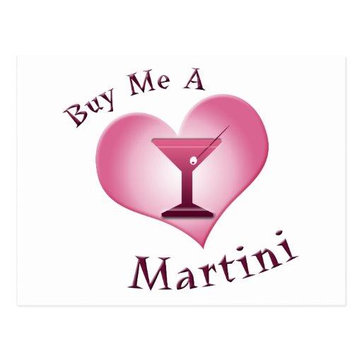 Cómpreme un Martini Tarjeta Postal