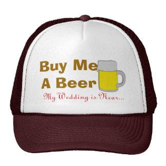 Cómpreme una cerveza que mi boda está cerca gorros bordados