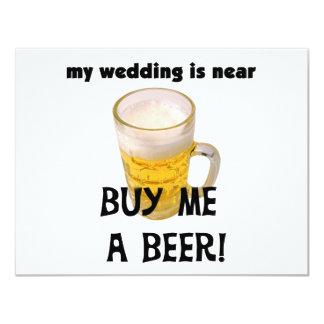 """Cómpreme una despedida de soltero de la cerveza invitación 4.25"""" x 5.5"""""""