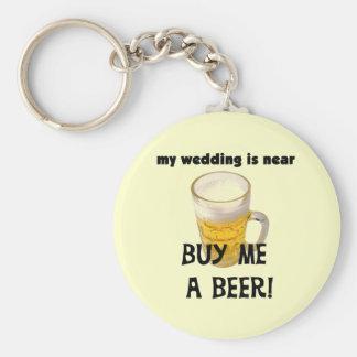 Cómpreme una despedida de soltero de la cerveza la llavero personalizado
