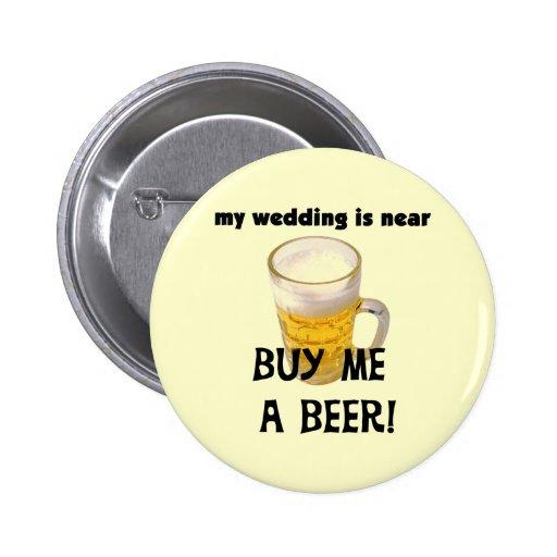 Cómpreme una despedida de soltero de la cerveza la pin redondo 5 cm