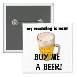 Cómpreme una despedida de soltero de la cerveza la pin cuadrada 5 cm
