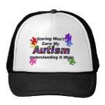 Comprensión del autismo gorros bordados