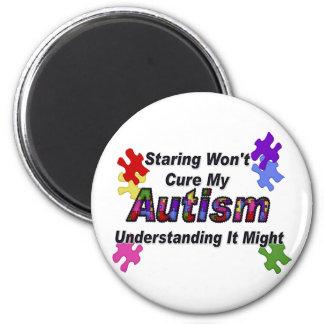 Comprensión del autismo imán redondo 5 cm
