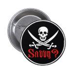 Comprensión del pirata pin redondo de 2 pulgadas
