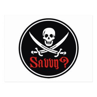 Comprensión del pirata tarjeta postal