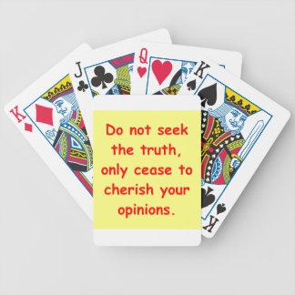 comprensión del zen cartas de juego