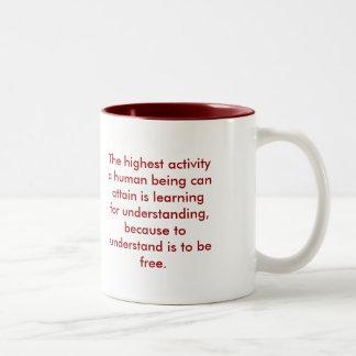 Comprensión - rojo taza de café de dos colores