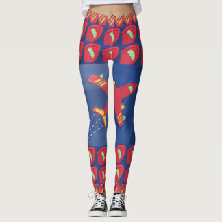 Compression fit due to high spandex content leggings