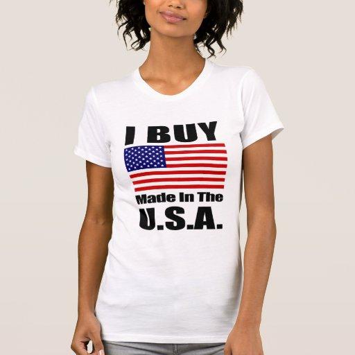 Compro hecho en los E.E.U.U. - cucharada casual de Camisetas