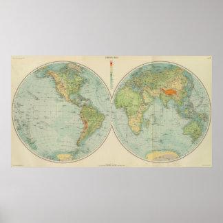 Comprobación de los hemisferios 12 póster
