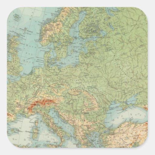 Comprobación europea 1112 calcomanía cuadrada