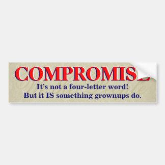 Compromise bumper sticker