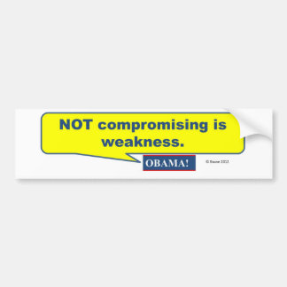 Compromise Moves Us Forward! Car Bumper Sticker