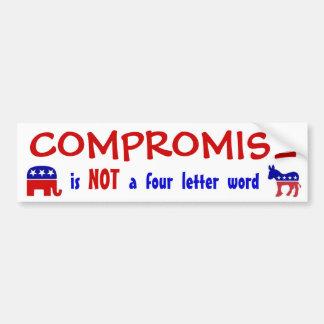 COMPROMISE, you jackass Bumper Sticker