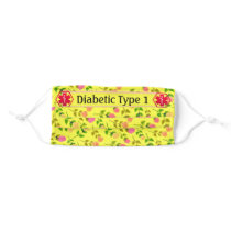Compromised Immune System Yellow floral Cloth Face Mask