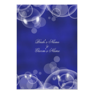 """Compromiso azul #2 del boda del invierno de la invitación 5"""" x 7"""""""