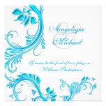 Compromiso azul del aniversario de boda de la agua anuncio