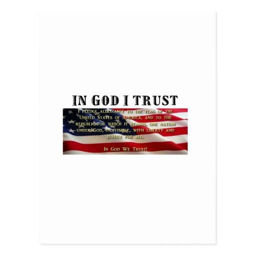 Compromiso de la lealtad. Confianza en dios Postales