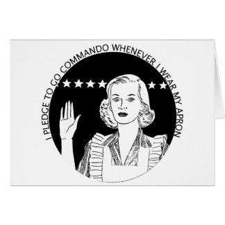 Compromiso de la mujer tarjeta