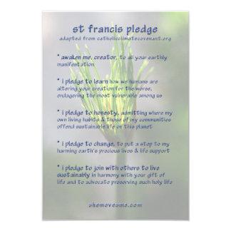 """Compromiso de St Francis/tarjeta de la carta de la Invitación 3.5"""" X 5"""""""