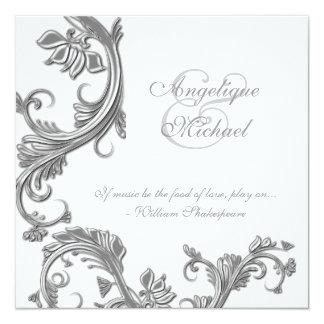 """Compromiso del aniversario de bodas de plata invitación 5.25"""" x 5.25"""""""