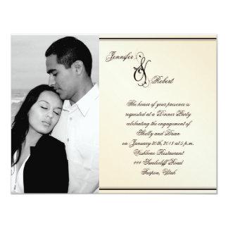 Compromiso del boda de la elegancia de la cáscara