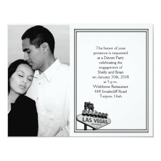 Compromiso del boda del destino de Las Vegas Invitacion Personalizada