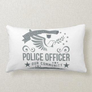 Compromiso del oficial de policía cojín