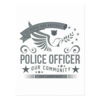 Compromiso del oficial de policía postal